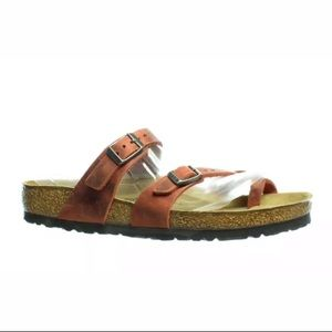 Birkenstock's Mayari 100% Leather Earth Orange 9